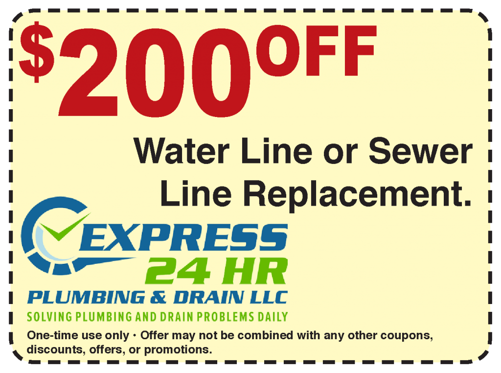 Plumbing Coupon 200 dollars off water line or sewer line