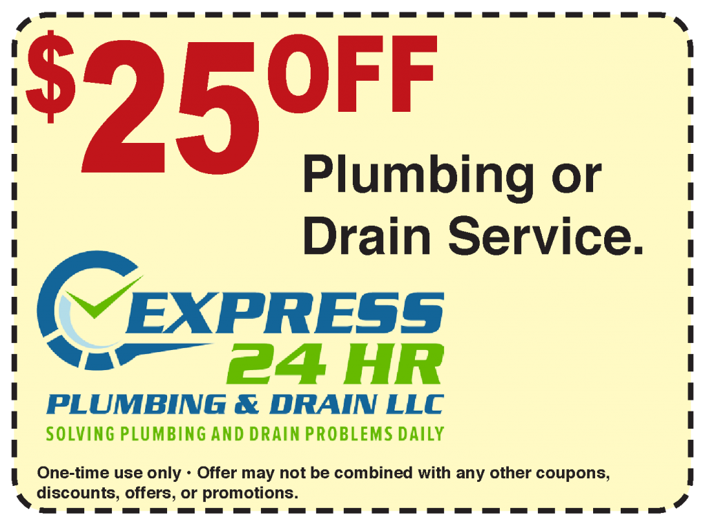 25 dollars off plumbing or drain service